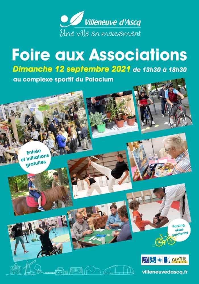 Affiiche foire aux associations Villeneuve d'Ascq 2021